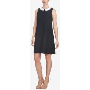 EUC CeCe Peter-Pan-Collar Black Shift Dress L